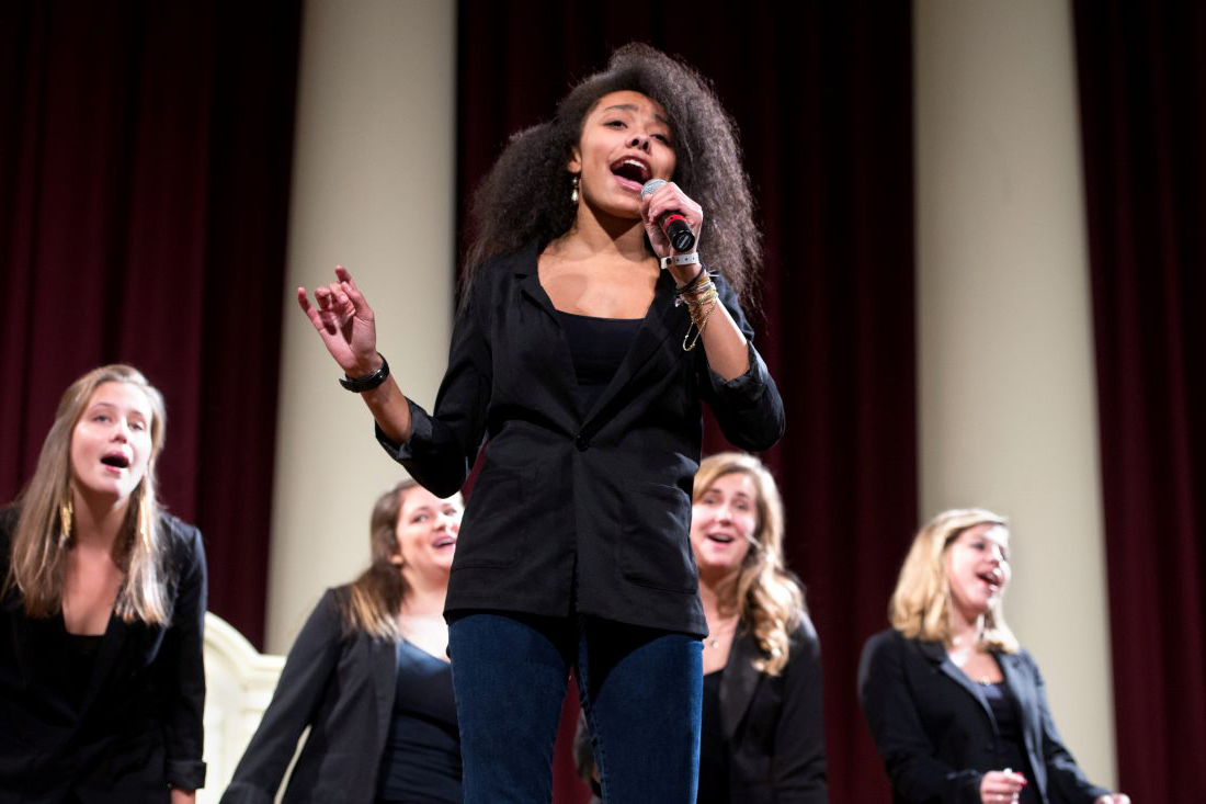 Student a cappella group, The Mandarins, singing in Hendricks Chapel