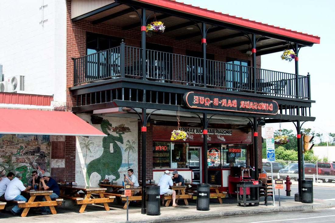 Exterior of the Dinosaur BBQ restaurant in downtown Syracuse