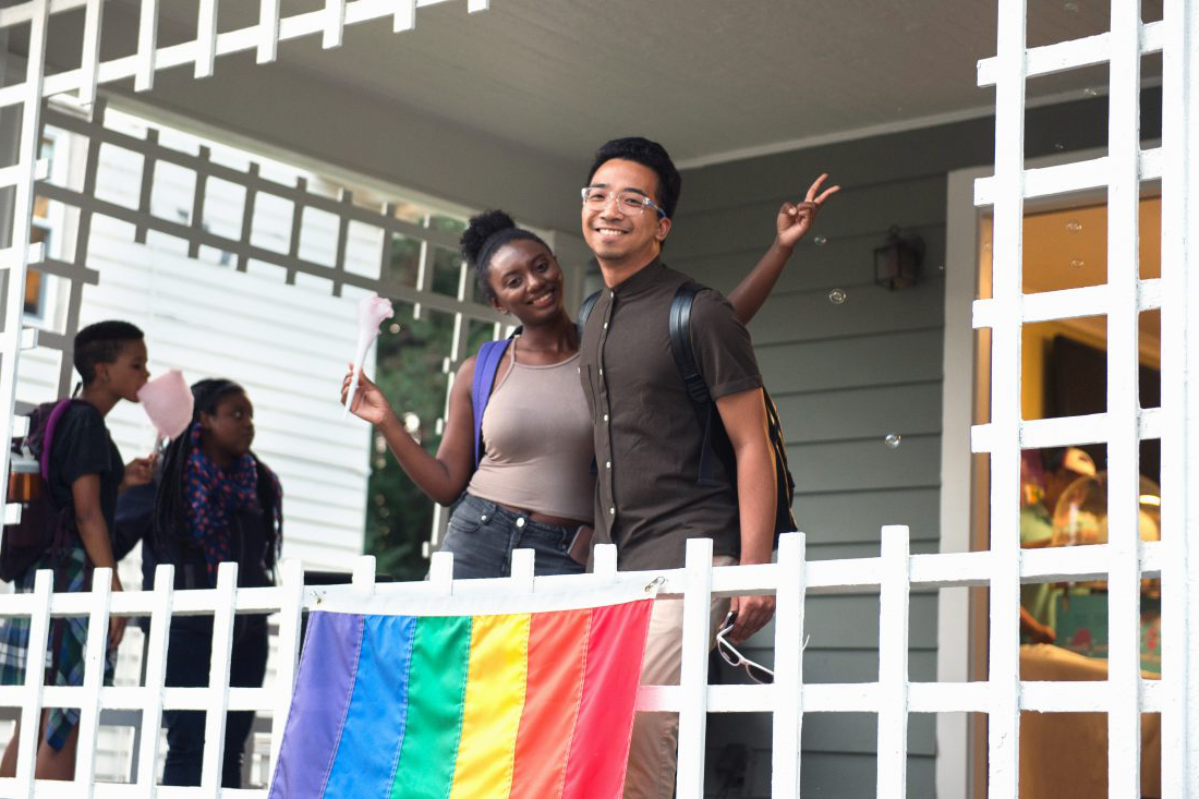 Students at the LGBT Resource Center Welcome Social